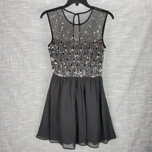 As U Wish Sequin Fit & Flare Dress Juniors 3